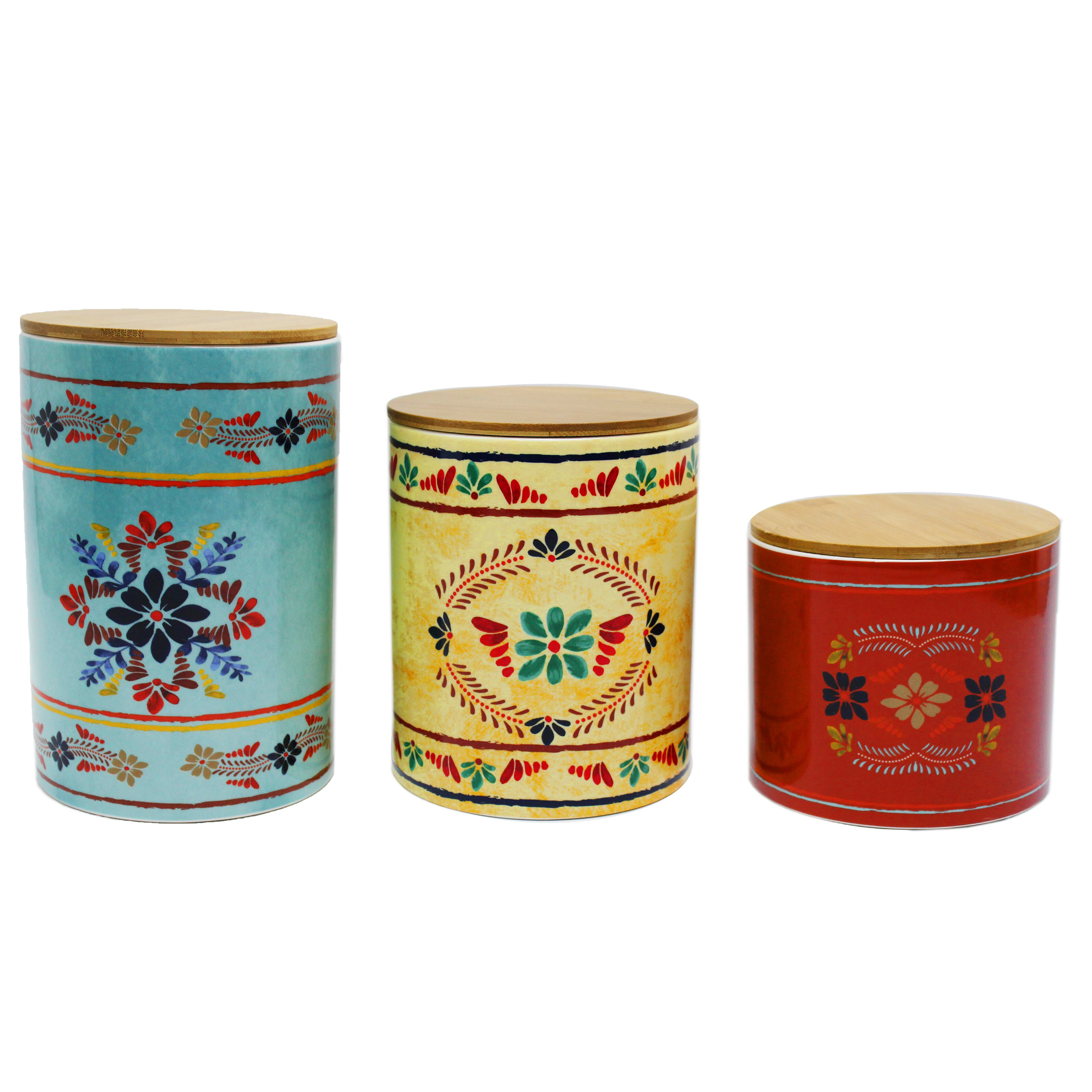 Bungalow Rose 3 Pc Wyndemere Canister Set Wayfair