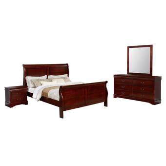 Charlton Home Maser Sleigh 4 Piece Bedroom Set Wayfair
