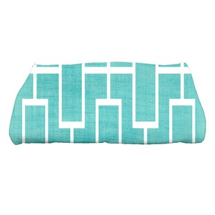 Sailer Lattice Geometric Print Bath Towel
