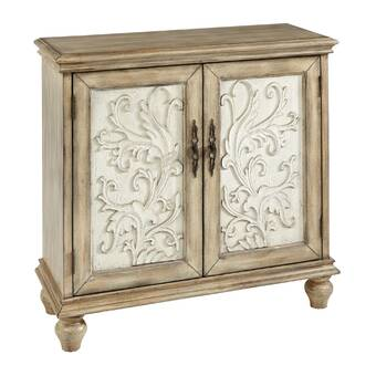 Mistana Sydni Traditional Carved Design 2 Door Accent Cabinet Reviews Wayfair