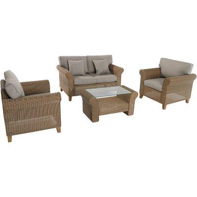 Barrow 4 Piece Sofa Set With Cushions