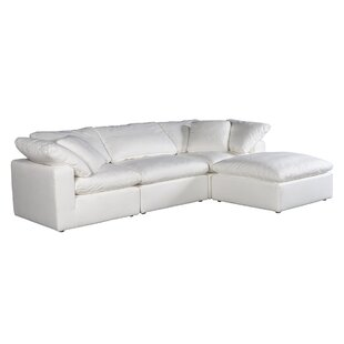 Hamaad 114 Reversible Modular Sectional with Ottoman by Orren Ellis