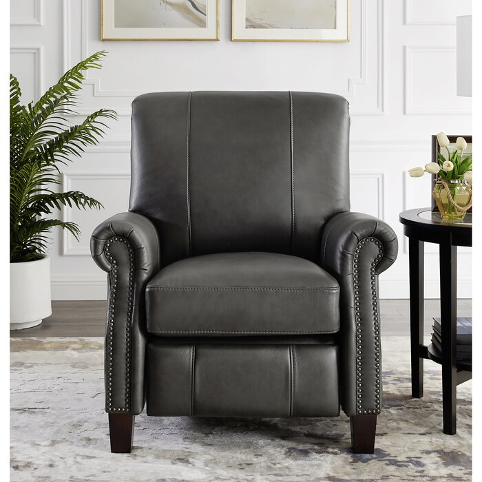 Surprising Yager Premium Leather Manual Recliner Bralicious Painted Fabric Chair Ideas Braliciousco