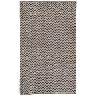 Wray Hand Woven Black Indoor/Outdoor Area Rug By Bungalow Rose