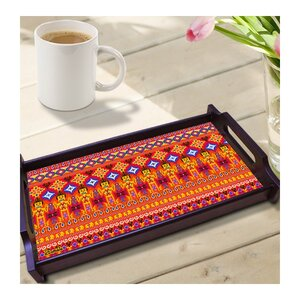 Dazzling Ikat Wooden Tray