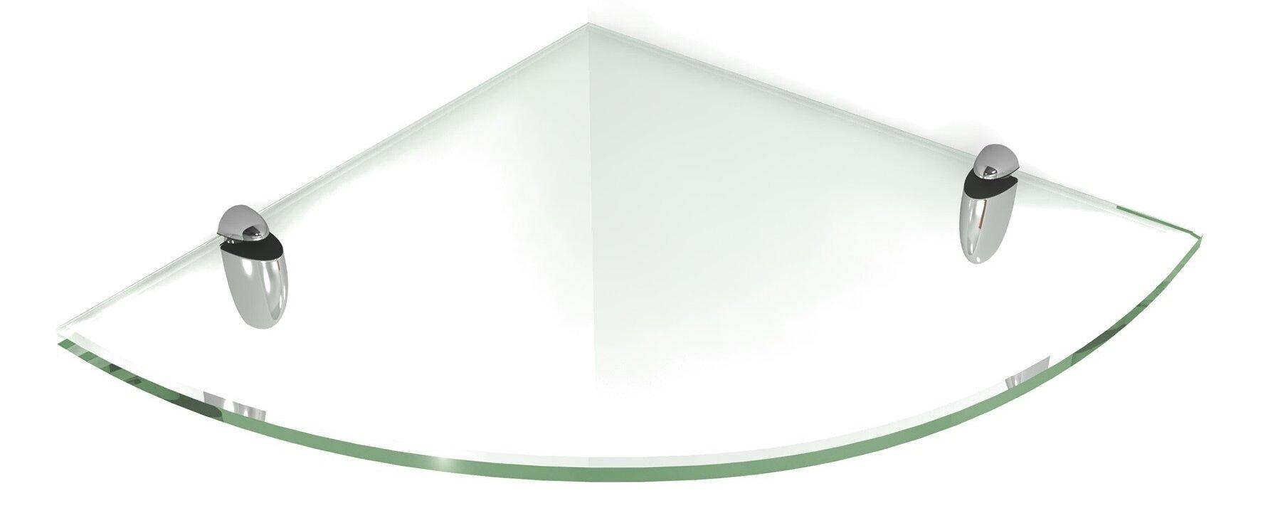 Floating Glass Shelf With Chrome Brackets