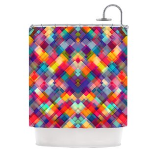 Squares Everywhere Single Shower Curtain