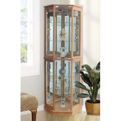 Biali Lighted Corner Curio Cabinet Andover Mills Color: Oak