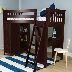 Compare prices Ayres Twin Loft Bed with Drawers ByHarriet Bee