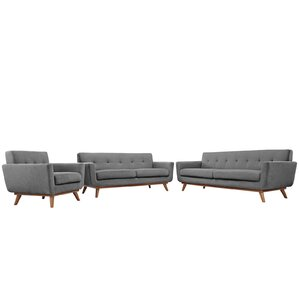Corrigan Studio Saginaw 3 Piece Living Room Set