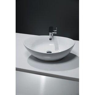 Ceramic Oval 587 mm Countertop Basin