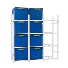 12 Tote Storage System 69 H 4 Shelf Shelving Unit by Bin Warehouse