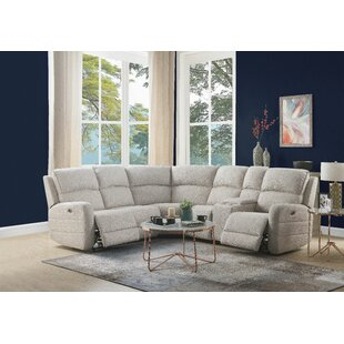 Nev Leather Reclining Sectional by Latitude Run
