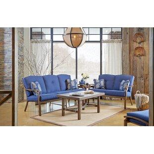 4 Piece Sunbrella Sofa Set with Cushions