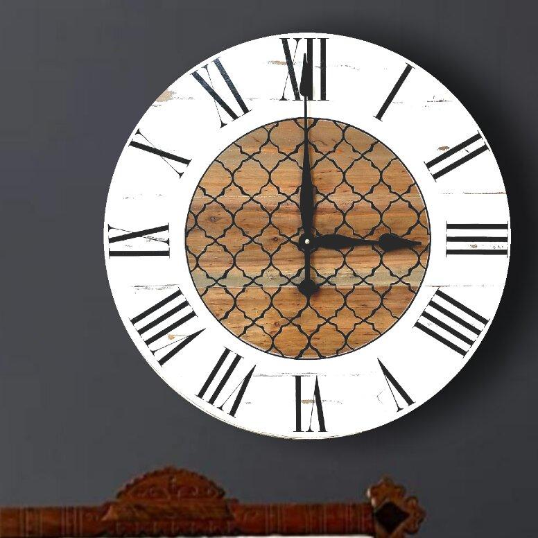 Gracie Oaks Oversized Troxel Wall Clock Reviews Wayfair