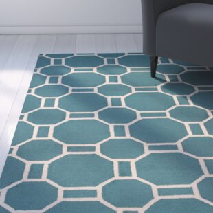 Evangeline Hand-Tufted Teal Indoor/Outdoor Area Rug