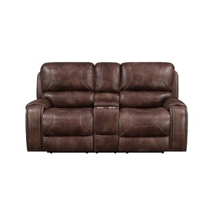Top Reviews Jaymie Power Console Reclining Loveseat Darby Home Co