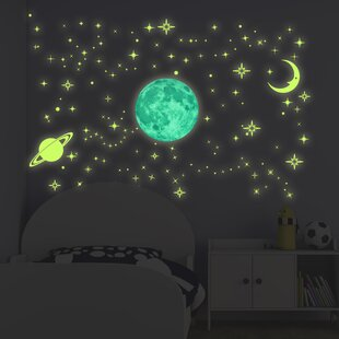 SpaceScape Earth /& Moon 1 Wall Sticker Decal Graphic Instant Star Ship Space Ship Window View Art Mural Kids Game Room Man Cave Basement