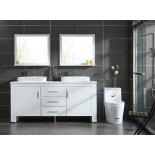 Cayden 72 Double Bathroom Vanity Set with Mirror by Orren Ellis