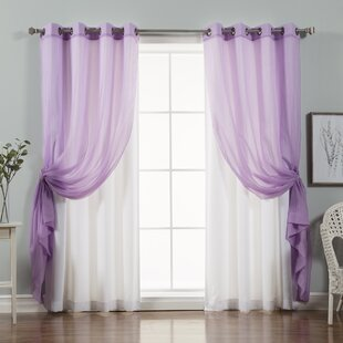 Stubbs Solid Blackout Thermal Grommet Curtain Panels (Set of 2) by Brayden Studio