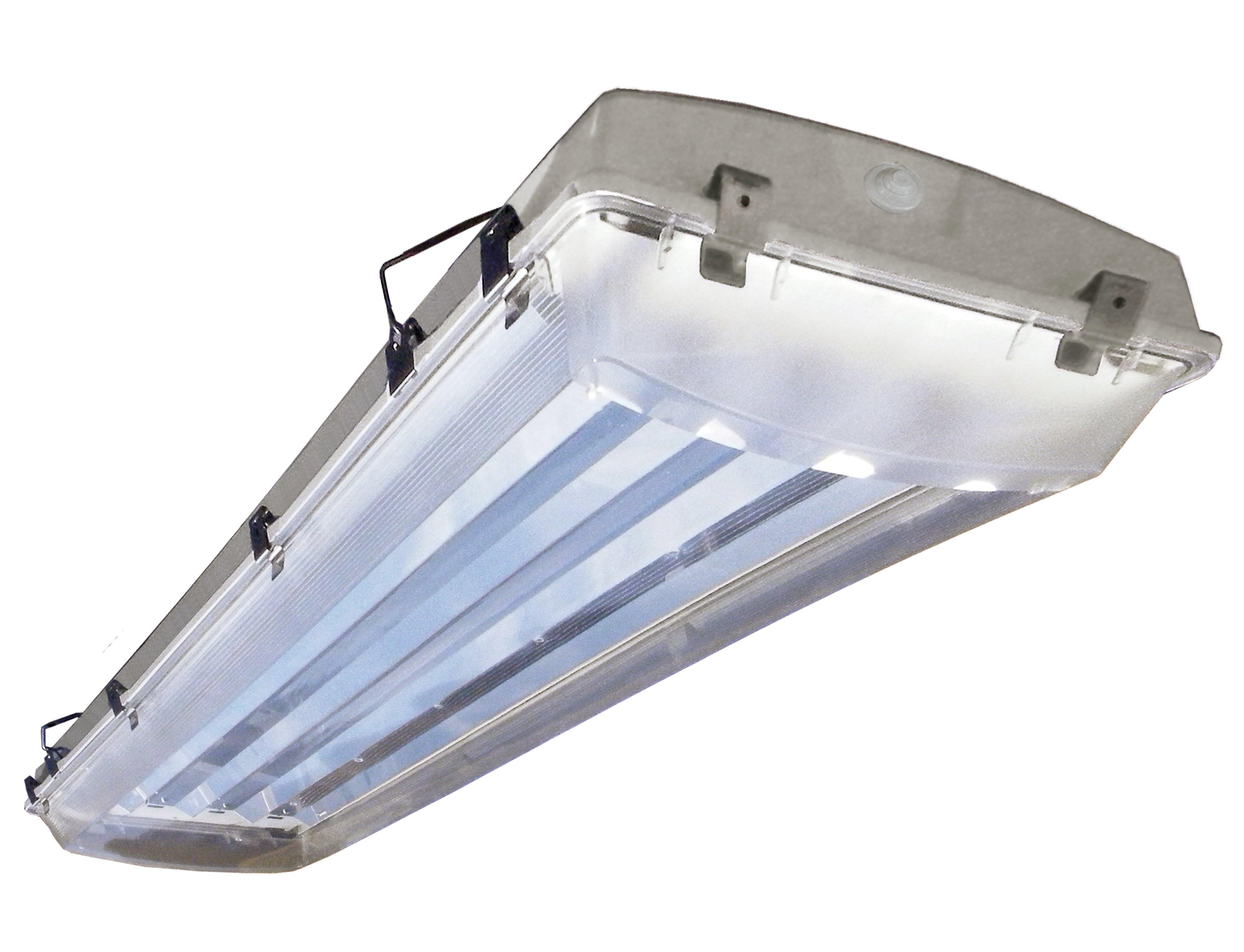 Howard Lighting 2-Light Vapor Proof High Bay Fluorescent Light ...