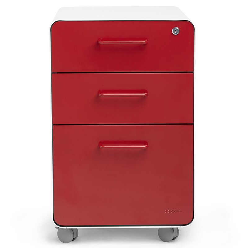 Superieur 3 Drawer Mobile Vertical File Cabinet