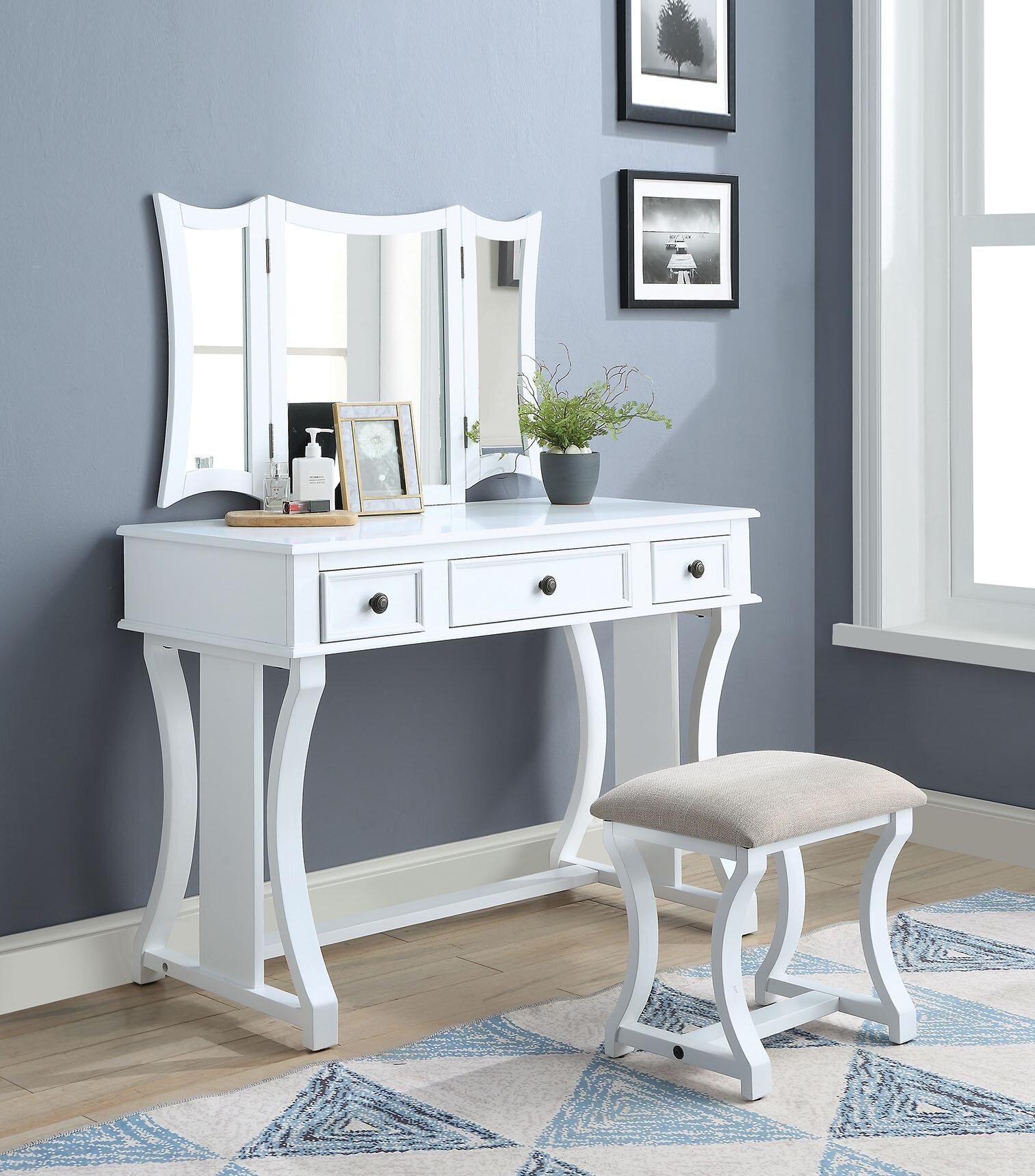 Dressing Tables Grey Quilted Dressing Table Makeup Desk Velvet Drawers Bedroom Furniture Vanity Home Furniture Diy Quatrok Com Br