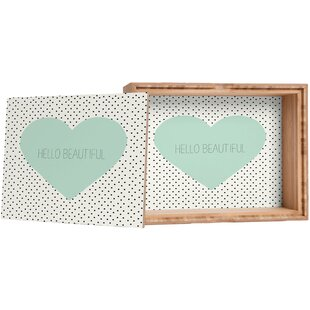 Inexpensive Hello Beautiful Storage Amber Bamboo Box By Deny Designs
