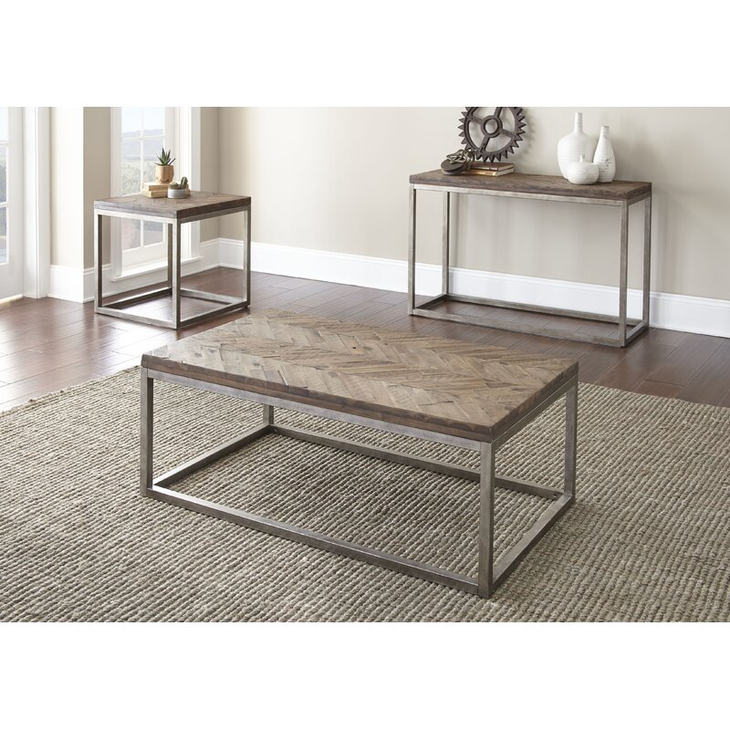 Kenton 3 Piece Coffee Table Set  sc 1 st  Joss u0026 Main & Kenton 3 Piece Coffee Table Set | Joss u0026 Main