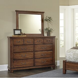 Rambert 8 Drawer Double Dresser With Mirror