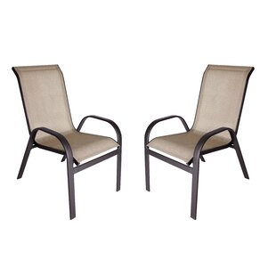 Jame Stacking Patio Dining Chair (Set of 2)