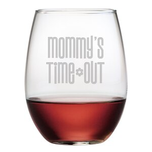 Mommy's Time Out Stemless 21 oz. Wine Glass (Set of 4)