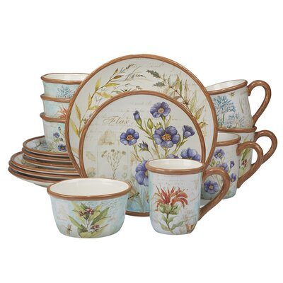Fritch Herb Blossoms 16 Piece Dinnerware Set Service for 4  sc 1 st  Wayfair & Corelle Corelle Embossed Bella Faenza 16-pc Dinnerware Set u0026 Reviews ...