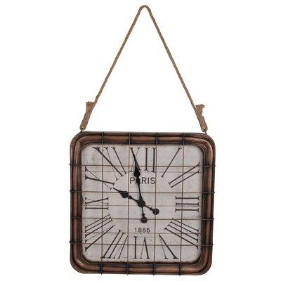 17 Stories Beldale Rectangle Metal Wall Clock