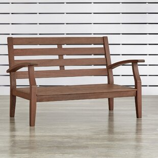 Brook Hollow Patio Loveseat by Three Posts