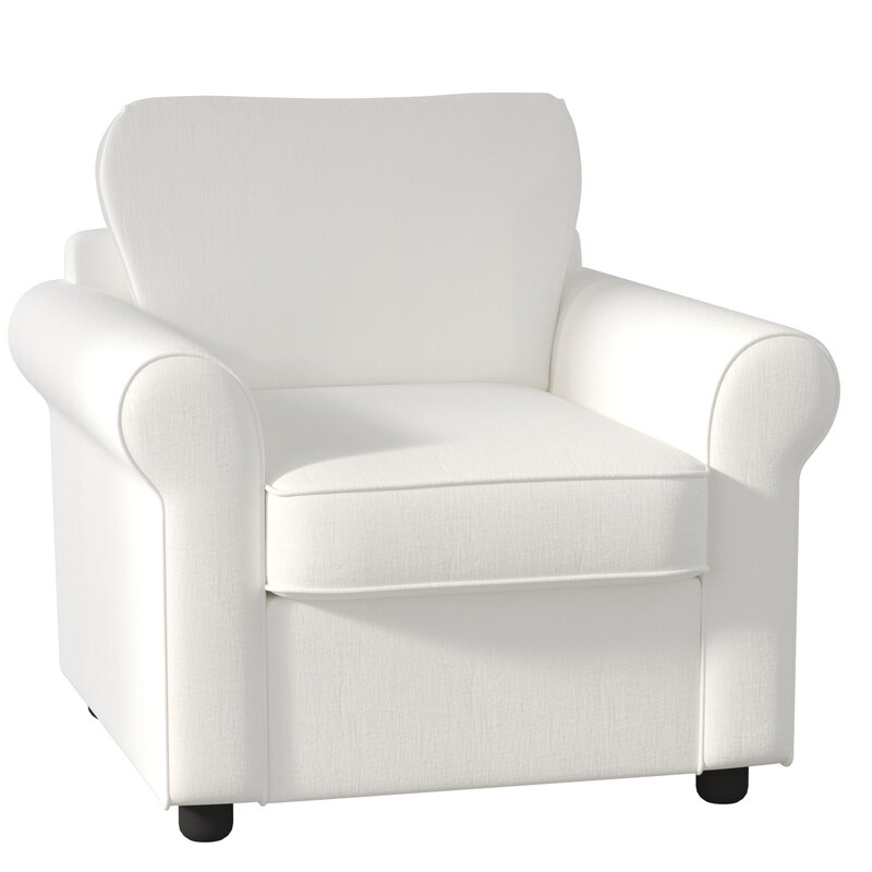 Classic Beach White Club Chair #clubchair #beachy #white
