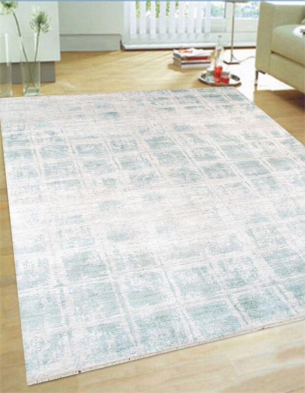 Hand Knotted Rayon From Bamboo Silk Area Rug