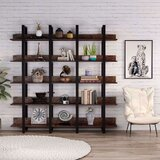 Jakes 70.9 H x 70.9 W Metal Bookcase by 17 Stories