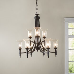 Online Reviews Marcet 9-Light Shaded Chandelier By Birch Lane™