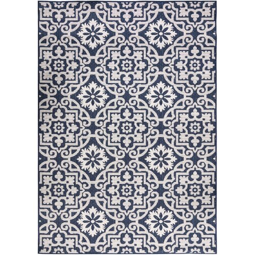 Buchheit Navy Indoor/Outdoor Area Rug