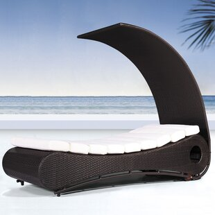 Sisemore Chaise Lounge With Cushion by Brayden Studio Wonderful