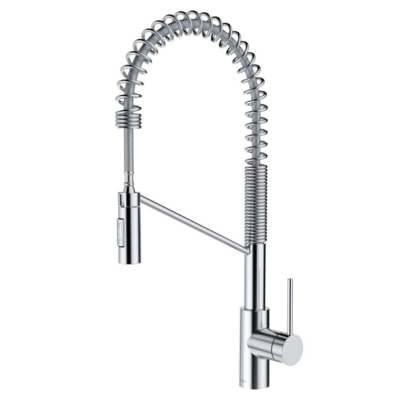 Oletto Pull Down Single Handle Kitchen Faucet With Quickdock Reviews Allmodern