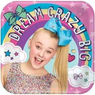 JoJo Siwa Paper Disposable Dessert Plate (Set of 8)