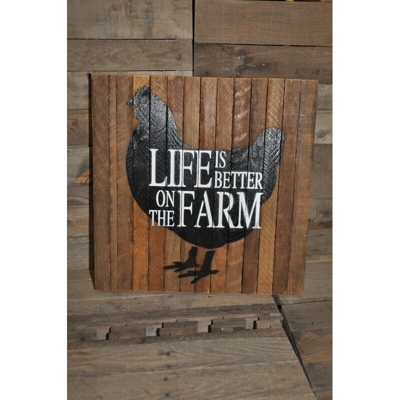 Sf Woodworking Life Is Better On The Farm Garden Plaque Wayfair Ca