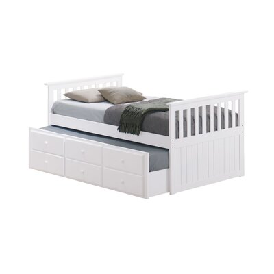 Broyhill® Marco Island Captain's Bed with Trundle Bed and Drawers Color: White, Size: Full