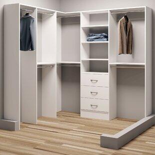 Demure Design 72.25W - 81W Closet System ByTidySquares Inc.