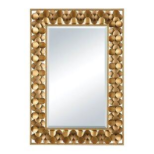 d485dbdd5ab8 Antique Gold Metal Accent Wall Mirror