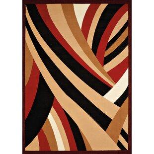 Reviews Eloise Red/Black Area Rug ByEbern Designs
