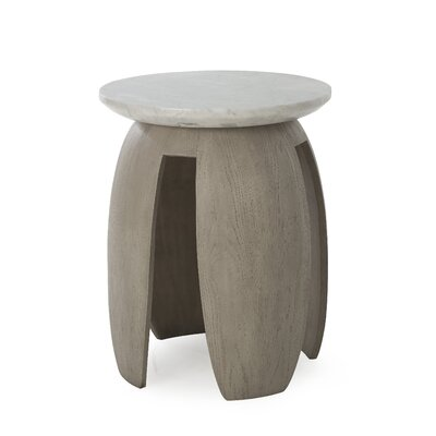 Sonder Living Grey Pedestal Table