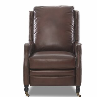 Bason High Leg Leather Power Recliner Canora Grey
